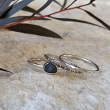 Raw Sapphire Stacking Set