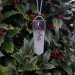 Winter Leaves Pendant - Green Quartz & Sterling Silver