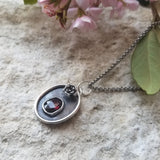 Matters of the Heart Pendant - Garnet & Sterling Silver