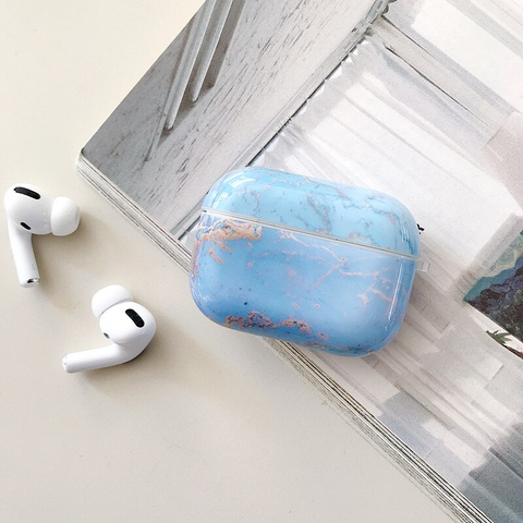 Airpods Pro Case - Blue marble design airpods case2L Media 1 of 4
