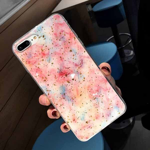 iPhone 6S Plus case - Glitter flaked oily art iPhone 6S Plus case Media 1 of 4