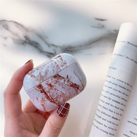 Airpods Pro Case - White marble design airpods case2S Media 1 of 4