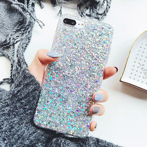 iPhone 6S Plus case - silver stardust iPhone 6S Plus case Media 1 of 4