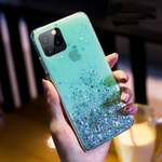 Glitter iPhone 12 pro max case - turquoise stardust sank iPhone 12 pro max case Media 1 of 3