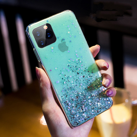 Glitter iPhone 6S Plus case - turquoise stardust sank iPhone 6S Plus case Media 1 of 3
