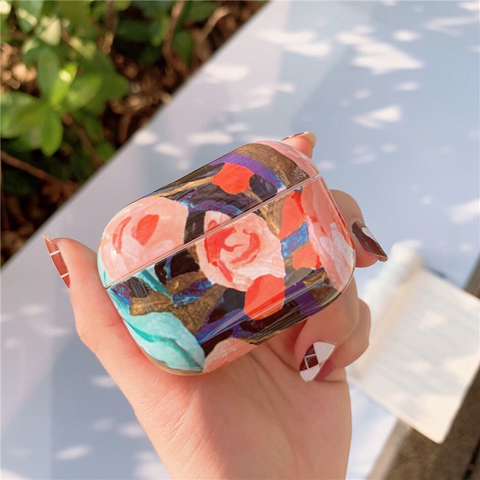 Airpods Pro Case - Flower art design airpods case2X Media 1 of 4