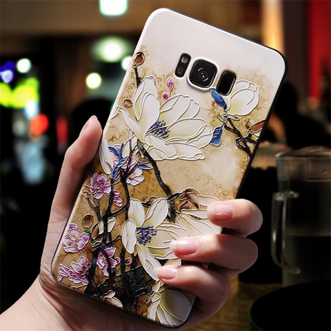 3D cream Flowery Samsung galaxy note 10 plus case, note 10, s20 plus, s20 ultra Media 1 of 3