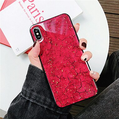 Glitter iPhone 6S Plus case - Red marble rough pattern iPhone 6S Plus case Media 1 of 3