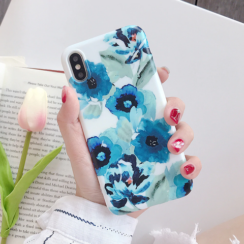 iPhone 6s plus case- beautiful flower leaf phone case