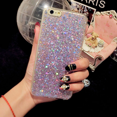 iPhone 6S Plus case - Glitter pink stardust iPhone 6S Plus case Media 1 of 4