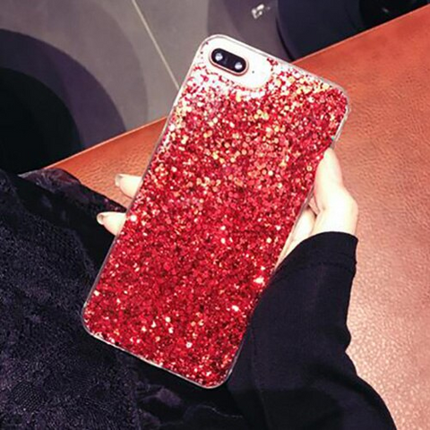 iPhone 6S Plus case - Glitter red stardust iPhone 6S Plus case Media 1 of 4