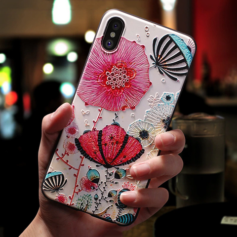 3D pink and red flowers Samsung galaxy note 10 plus case, note 10, s20 plus, s20 ultra Media 1 of 3