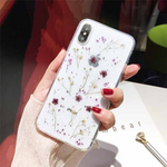 iPhone 6s plus case - beautiful real dried flowers transparent case