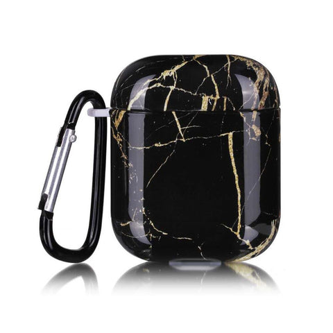 Airpod Case - Black and gold Marble airpod case Case17E
