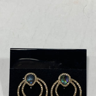 Primary Photo - BRAND: ANNE KLEIN STYLE: EARRINGS COLOR: GOLD SILVER OTHER INFO: BLUE GREEN STONES SKU: 150-15098-36905