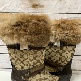 Primary Photo - BRAND: COACH STYLE: BOOTS DESIGNER COLOR: MONOGRAM SIZE: 9 OTHER INFO: WITH FUR SKU: 150-15047-139249