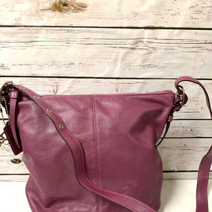 Primary Photo - BRAND: COACH STYLE: HANDBAG DESIGNER COLOR: PURPLE SIZE: MEDIUM OTHER INFO: AS IS SKU: 150-15047-143786ADJUSTABLE SHOULDER STRAP11X12