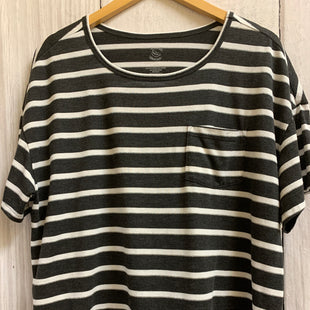 Primary Photo - BRAND:    CLOTHES MENTOR STYLE: TOP SHORT SLEEVE BASIC COLOR: GREY SIZE: 1X OTHER INFO: JUNIPER AND LIME  - WHITE STRIPES SKU: 150-150131-15038