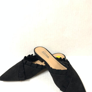 Primary Photo - BRAND: JUST FAB STYLE: SHOES LOW HEEL COLOR: BLACK SIZE: 7 SKU: 150-150131-13635SUEDE
