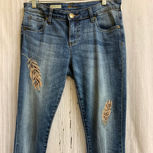 Primary Photo - BRAND: KUT STYLE: CAPRIS COLOR: DENIM SIZE: 4 OTHER INFO: FEATHERS SKU: 150-150131-10009