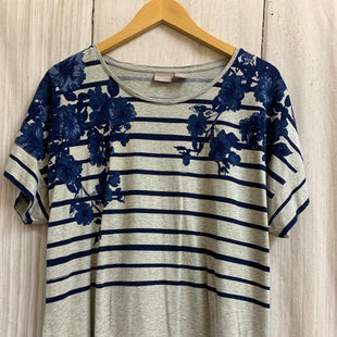 Primary Photo - BRAND: CHICOS STYLE: TOP SHORT SLEEVE COLOR: STRIPED SIZE: XL SKU: 150-150112-25710