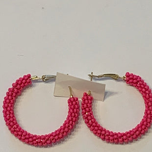 Primary Photo - BRAND:    CLOTHES MENTOR STYLE: EARRINGS COLOR: PINK SIZE: 2 OTHER INFO: HALF HOOPS SKU: 150-150119-10311