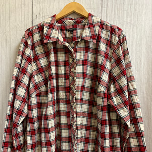 Primary Photo - BRAND: TALBOTS STYLE: TOP LONG SLEEVE COLOR: PLAID SIZE: 3X OTHER INFO: RED WGITE BLACK SPARKLE SILVER SKU: 150-150131-8655