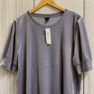 Primary Photo - BRAND: ANN TAYLOR STYLE: TOP SHORT SLEEVE COLOR: SILVER SIZE: XL SKU: 150-150112-13123VELOUR