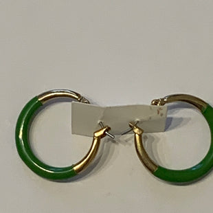 Primary Photo - BRAND:    CLOTHES MENTOR STYLE: EARRINGS COLOR: GREEN SIZE: 2 OTHER INFO: GREEN/GOLD HOOPS SKU: 150-150119-10321