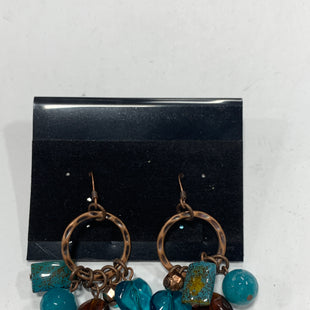 Primary Photo - BRAND:    CLOTHES MENTOR STYLE: EARRINGS COLOR: BRONZE SIZE: 1 OTHER INFO: TEAL/BROWN STONES SKU: 150-15098-38888