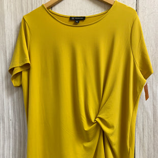 Primary Photo - BRAND: INC STYLE: TOP SHORT SLEEVE BASIC COLOR: YELLOW SIZE: 1X SKU: 150-150112-25454R