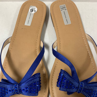 Primary Photo - BRAND: INC STYLE: SANDALS FLAT COLOR: ROYAL BLUE SIZE: 9.5 OTHER INFO: BOW SKU: 150-15098-38299