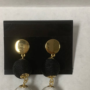 Primary Photo - BRAND:    CLOTHES MENTOR STYLE: EARRINGS COLOR: NAVY OTHER INFO: WHITE/BALLS SKU: 150-15047-145673