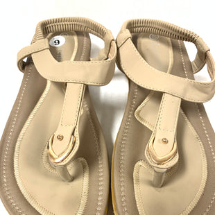 Primary Photo - BRAND:    CLOTHES MENTOR STYLE: SANDALS FLAT COLOR: BEIGE SIZE: 9 OTHER INFO: HARENCE - ELASTIC ANKLE STRAP SKU: 150-150135-2820