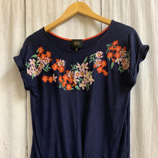 Primary Photo - BRAND: W5 STYLE: TOP SHORT SLEEVE COLOR: NAVY SIZE: S OTHER INFO: FLORAL SKU: 150-15098-39318