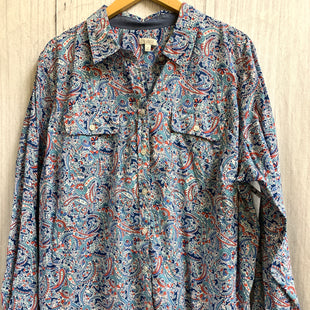 Primary Photo - BRAND: TALBOTS STYLE: TOP LONG SLEEVE COLOR: PRINT SIZE: 3X OTHER INFO: BLUE WHITE RED PINK SKU: 150-150112-8870