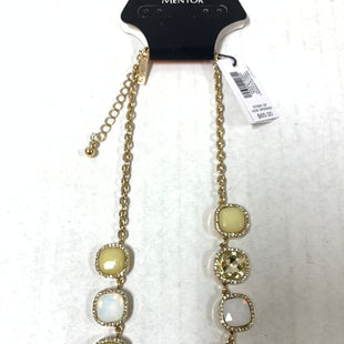 Primary Photo - BRAND: WHITE HOUSE BLACK MARKET STYLE: NECKLACE COLOR: PALE YELLOW OTHER INFO: GOLD/WHITE/STATEMENT SKU: 150-15098-39254