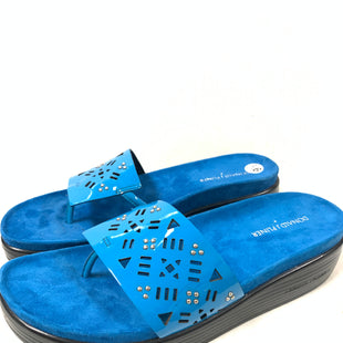 Primary Photo - BRAND: DONALD J PILNER STYLE: SANDALS LOW COLOR: BLUE SIZE: 9.5 SKU: 150-15047-147044