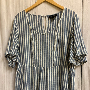 Primary Photo - BRAND: LANE BRYANT STYLE: TOP SHORT SLEEVE COLOR: BLUE WHITE SIZE: 1X SKU: 150-15047-149488