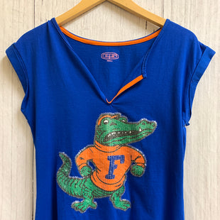 Primary Photo - BRAND:    CLOTHES MENTOR STYLE: ATHLETIC TOP SHORT SLEEVE COLOR: BLUE SIZE: S OTHER INFO: ES - GATOR SKU: 150-150112-19725