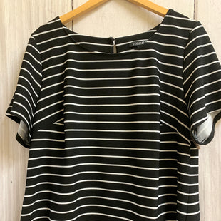 Primary Photo - BRAND: ROZ AND ALI STYLE: TOP SHORT SLEEVE BASIC COLOR: STRIPED SIZE: 1X OTHER INFO: BLACK/WHITE SKU: 150-15047-148023