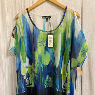 Primary Photo - BRAND:    CLOTHES MENTOR STYLE: TOP SHORT SLEEVE COLOR: BLUE GREEN SIZE: 1X OTHER INFO: PICADAILY - SKU: 150-15047-147587SHEER