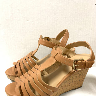 Primary Photo - BRAND: LIZ CLAIBORNE STYLE: SANDALS LOW COLOR: TAN SIZE: 6.5 OTHER INFO: WOVEN IN FRONT SKU: 150-15047-1398673 1/2
