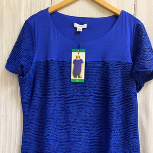 Primary Photo - BRAND: CALVIN KLEIN STYLE: TOP SHORT SLEEVE COLOR: ROYAL BLUE SIZE: XL SKU: 150-15098-36802LINED