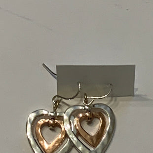 Primary Photo - BRAND:    CLOTHES MENTOR STYLE: EARRINGS COLOR: SILVER SIZE: 2 OTHER INFO: HEARTS/ROSE GOLD HEART IN CENTER SKU: 150-150119-10320