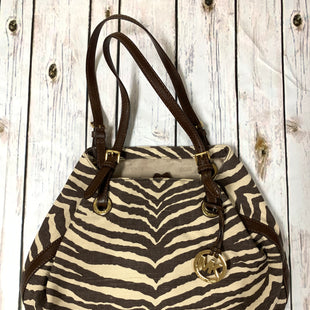 Primary Photo - BRAND: MICHAEL KORS STYLE: HANDBAG DESIGNER COLOR: ZEBRA PRINT SIZE: MEDIUM OTHER INFO: BROWN/ AS IS SKU: 150-15047-14379113X16 1/2