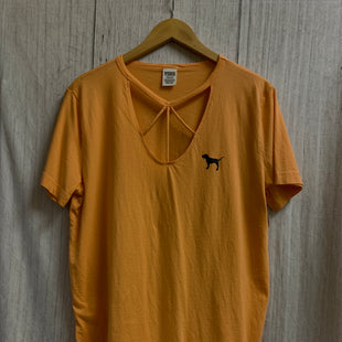 Primary Photo - BRAND: VICTORIAS SECRET STYLE: ATHLETIC TOP SHORT SLEEVE COLOR: ORANGE SIZE: L SKU: 150-150112-22404