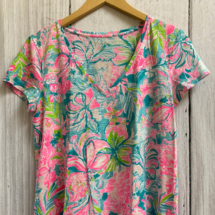 Primary Photo - BRAND: LILLY PULITZER STYLE: TOP SHORT SLEEVE COLOR: TURQUOISE SIZE: M OTHER INFO: PINK SKU: 150-15098-39405