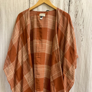 Primary Photo - BRAND: UNIVERSAL THREAD STYLE: SHAWL COLOR: RUST SIZE: ONESIZE OTHER INFO: WHITE PLAID SKU: 150-150135-1818