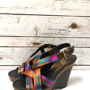 Primary Photo - BRAND: DONALD J PILNER STYLE: SHOES DESIGNER COLOR: BRONZE SIZE: 8.5 OTHER INFO: RAINBOW NEON STRAPS SKU: 150-150154-35255 INCHES